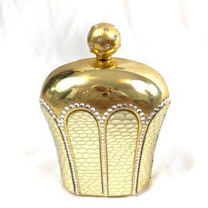 Darling Art Deco Gold Metal Mini Bag